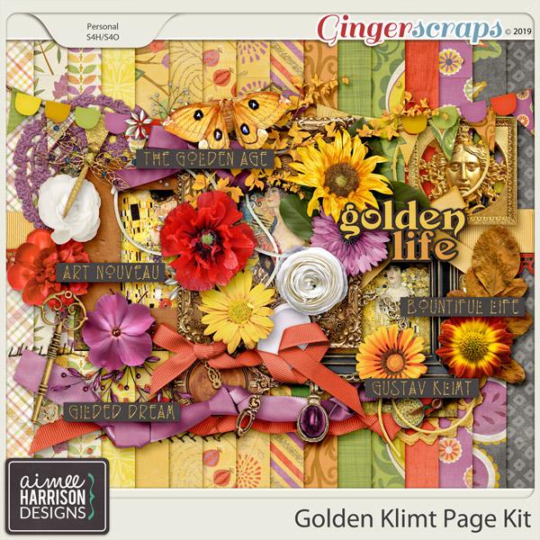 Golden Klimt Page Kit by Aimee Harrison