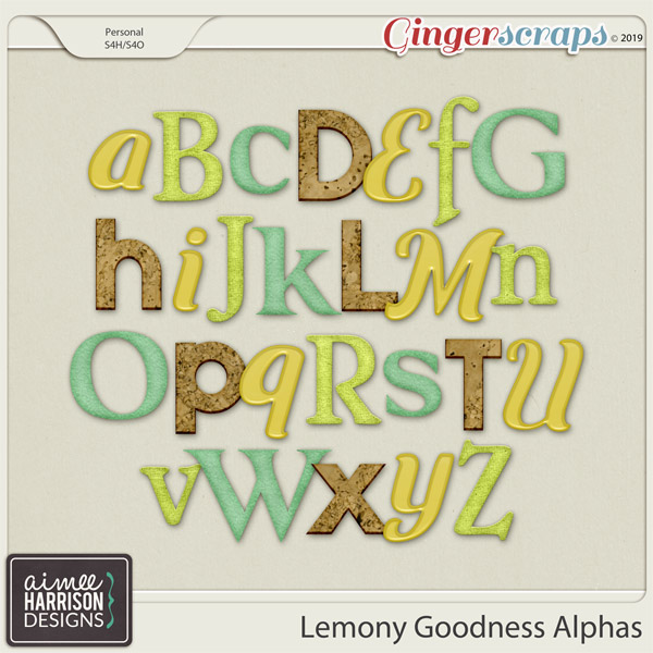 Lemony Goodness Alpha Sets by Aimee Harrison