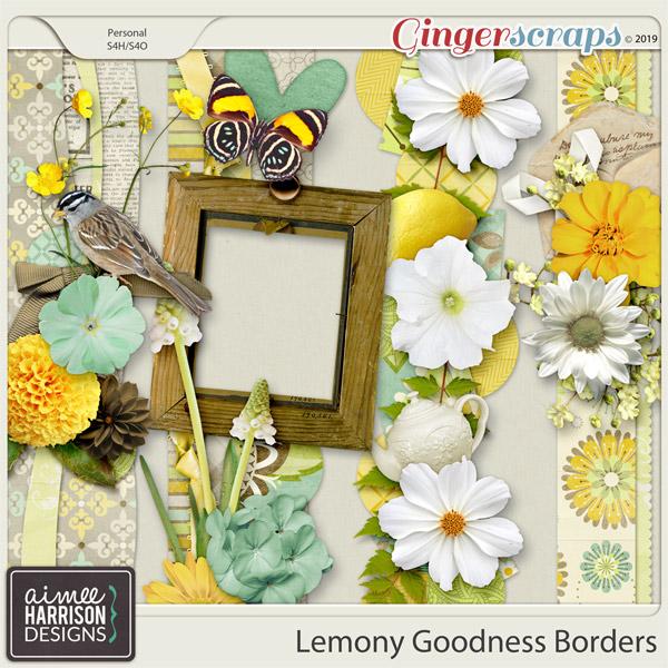 Lemony Goodness Borders by Aimee Harrison