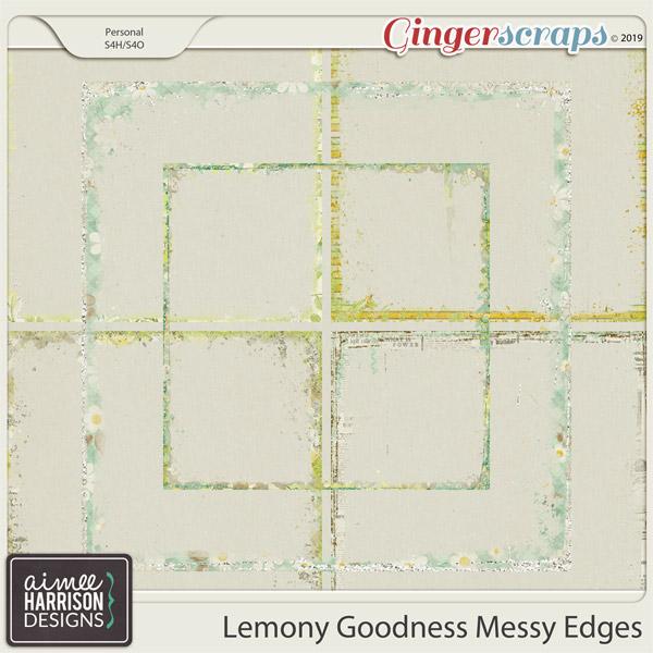 Lemony Goodness Messy Edges by Aimee Harrison