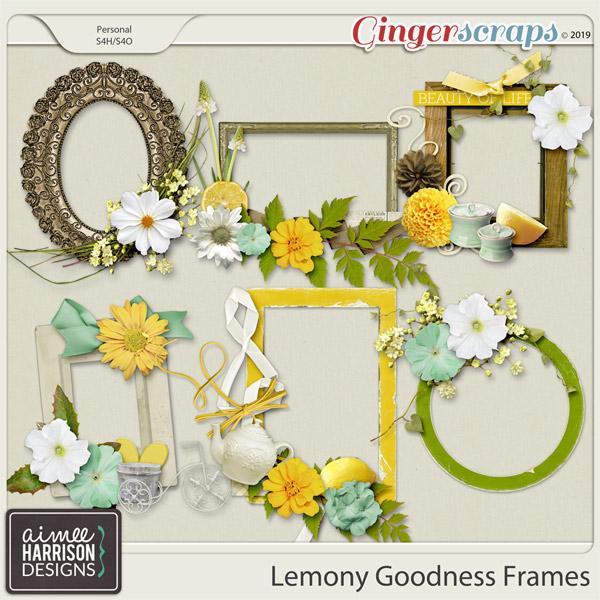 Lemony Goodness Frame Clusters by Aimee Harrison