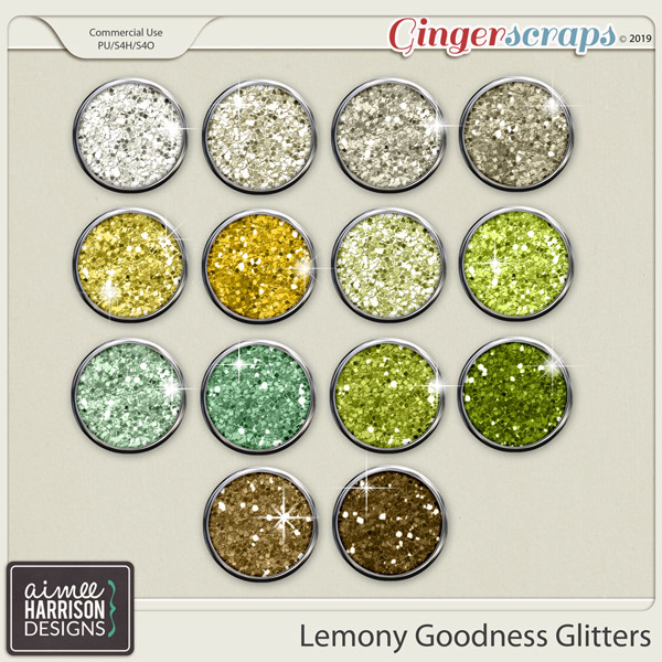 Lemony Goodness Glitters by Aimee Harrison
