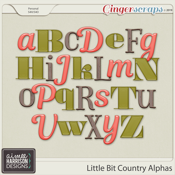 Little Bit Country Alpha Sets by Aimee Harrison