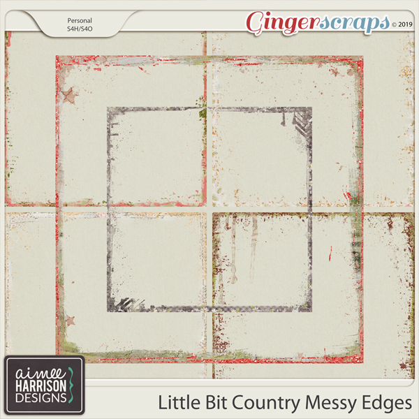 Little Bit Country Messy Edges by Aimee Harrison