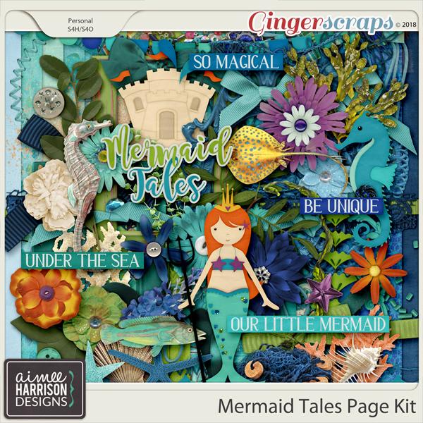 Mermaid Tales Page Kit by Aimee Harrison