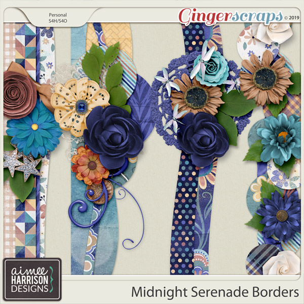 Midnight Serenade Borders by Aimee Harrison