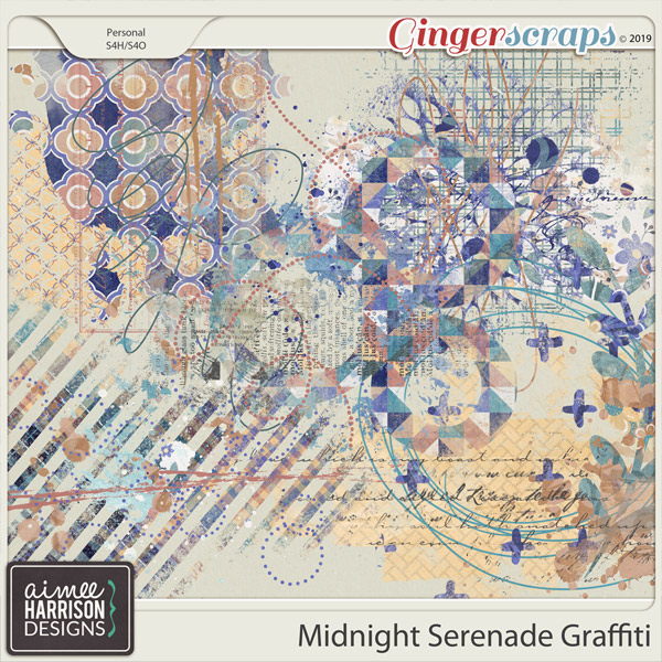 Midnight Serenade Graffiti by Aimee Harrison