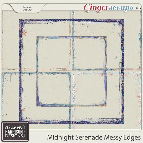 Midnight Serenade Messy Edges by Aimee Harrison