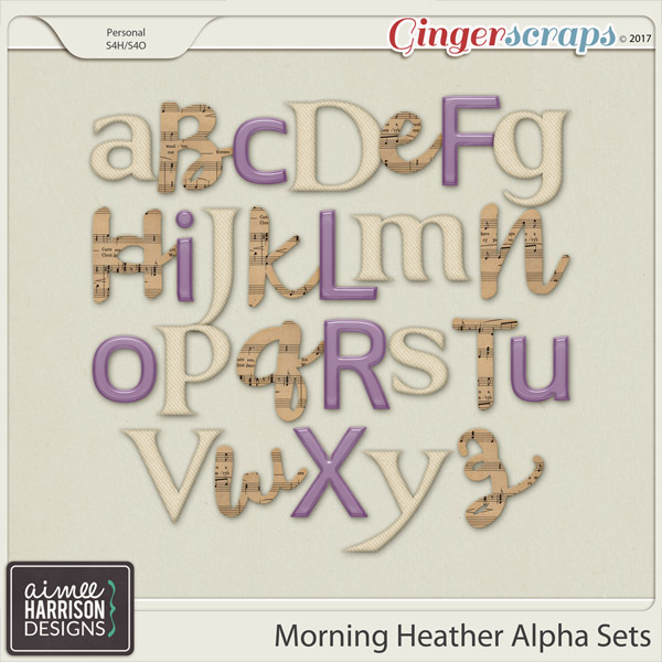 Morning Heather Alpha Sets by Aimee Harrison