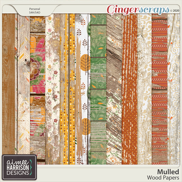Mulled Wood Papers by Aimee Harrison