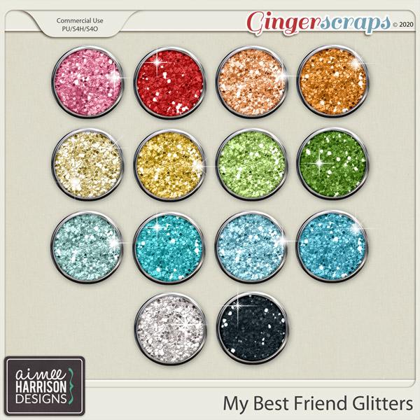 My Best Friend Glitters by Aimee Harrison