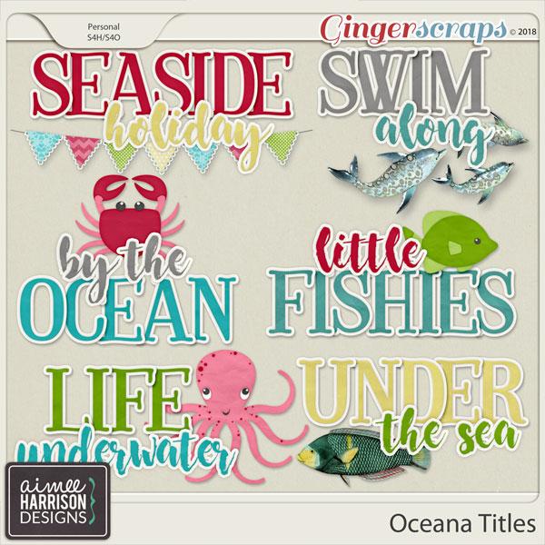 Oceana Titles by Aimee Harrison
