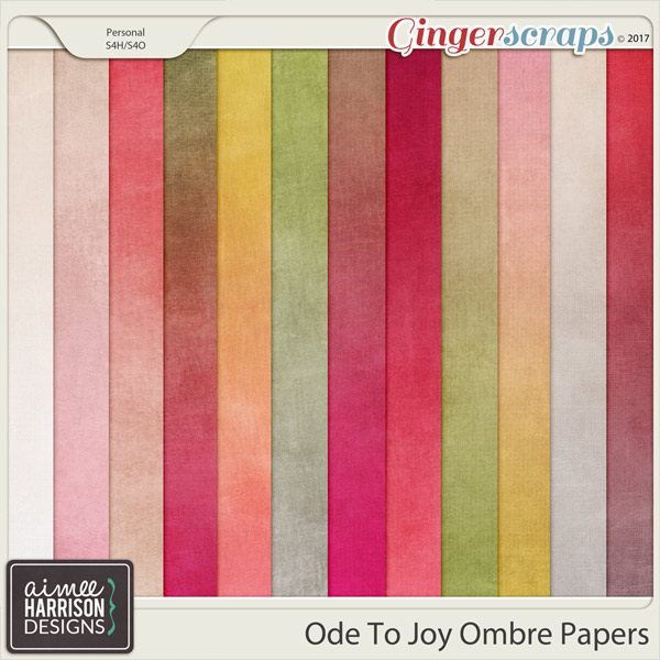 Ode to Joy Ombre Papers by Aimee Harrison