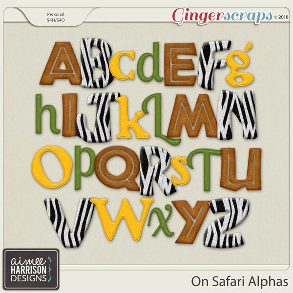 On Safari Alpha Sets by Aimee Harrison
