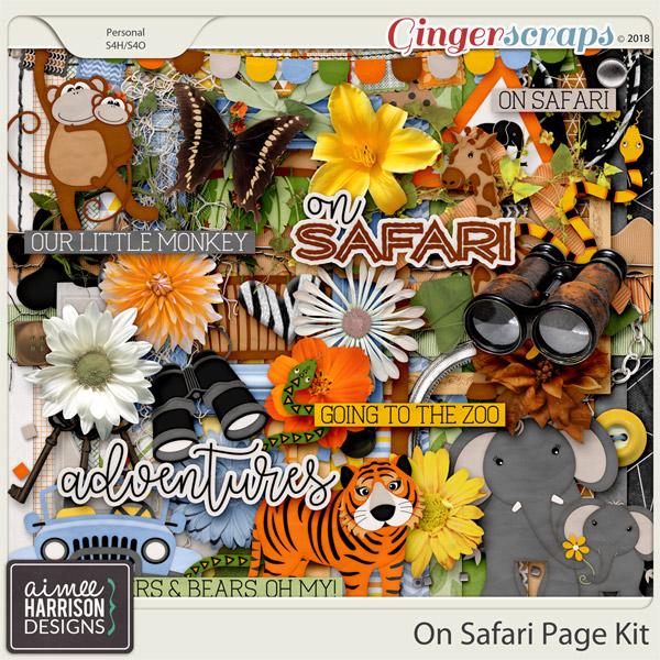 On Safari Page Kit by Aimee Harrison