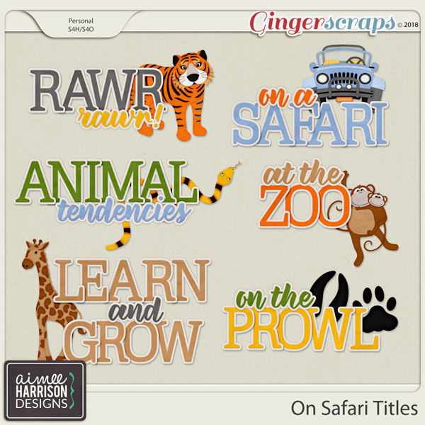 On Safari Titles by Aimee Harrison