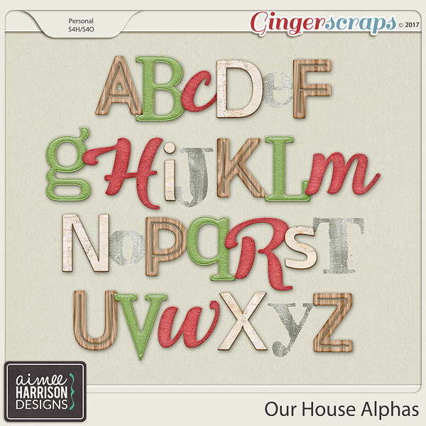 Our House Alpha Sets by Aimee Harrison