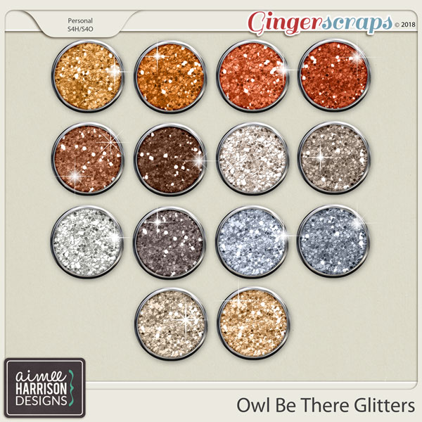 Owl Be There Glitters by Aimee Harrison
