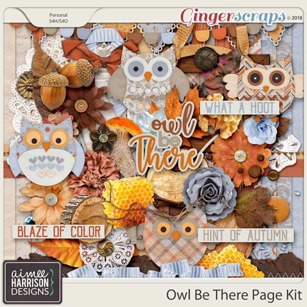 Owl Be There Page Kit by Aimee Harrison