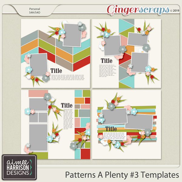 Patterns A Plenty #3 Templates by Aimee Harrison
