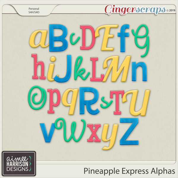 Pineapple Express Alpha Sets by Aimee Harrison