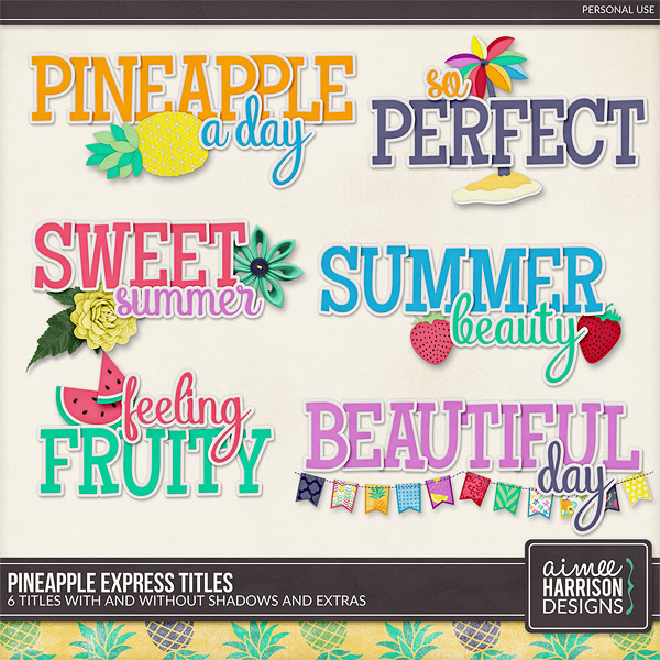 Pineapple Express Titles by Aimee Harrison