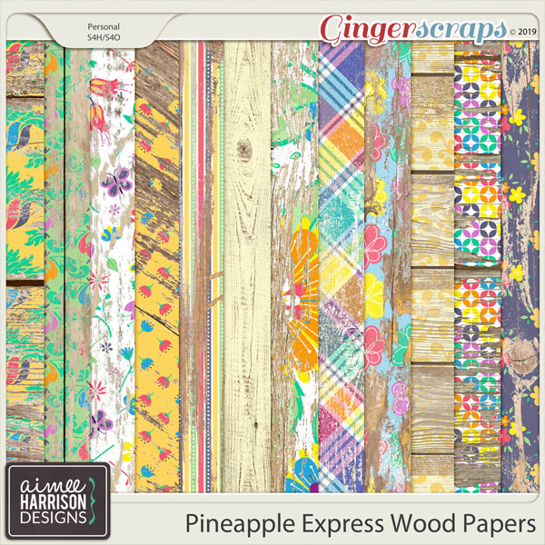 Pineapple Express Wood Papers by Aimee Harrison
