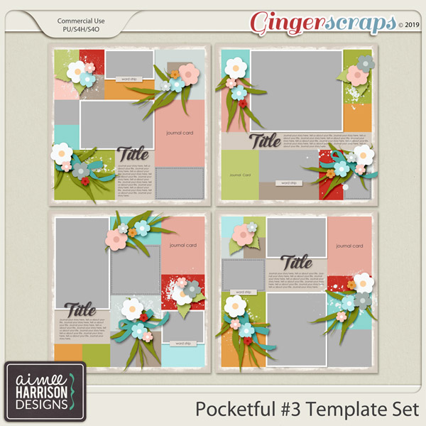 Pocketful #3 Templates by Aimee Harrison