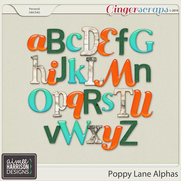 Poppy Lane Alpha Sets by Aimee Harrison