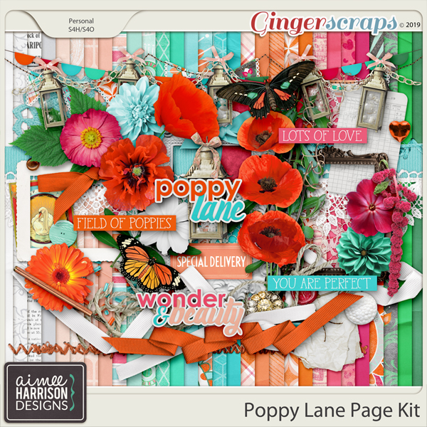 Poppy Lane Page Kit by Aimee Harrison