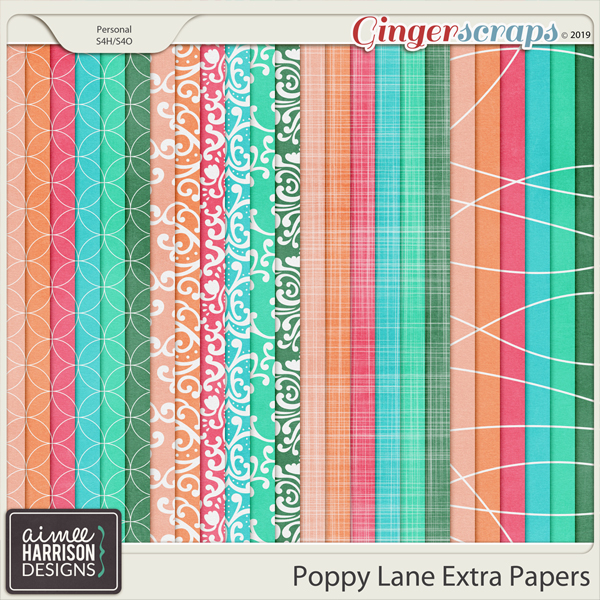 Poppy Lane Extra Papers by Aimee Harrison