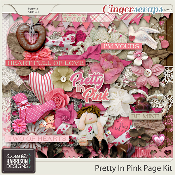 Pretty in Pink Page Kit by Aimee Harrison