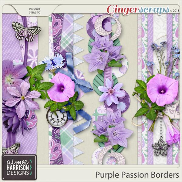 Purple Passion Borders by Aimee Harrison