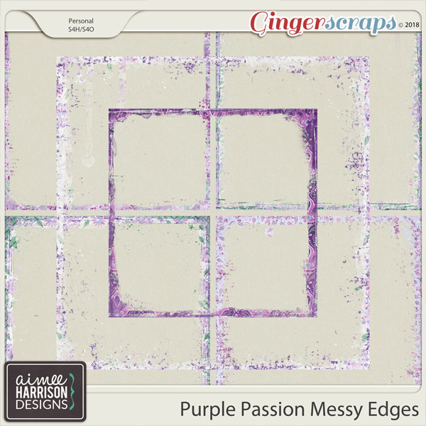 Purple Passion Messy Edges by Aimee Harrison