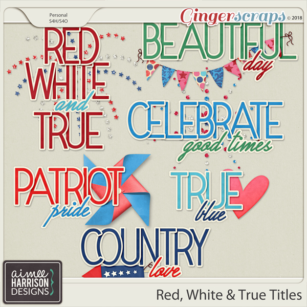 Red, White & True Titles by Aimee Harrison