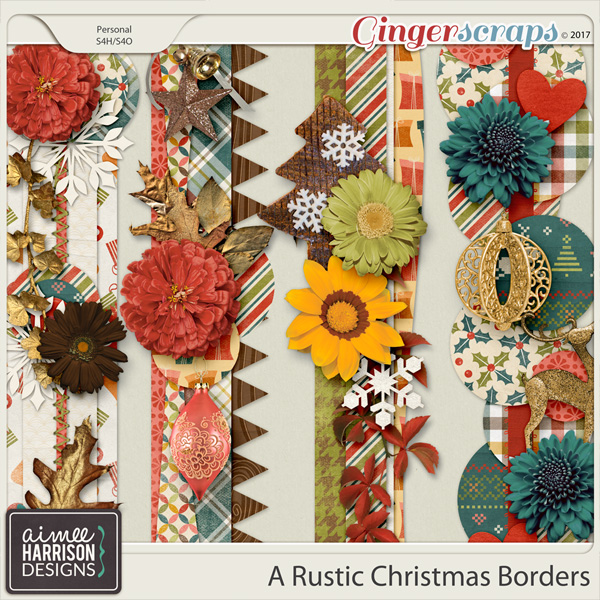 A Rustic Christmas Borders by Aimee Harrison