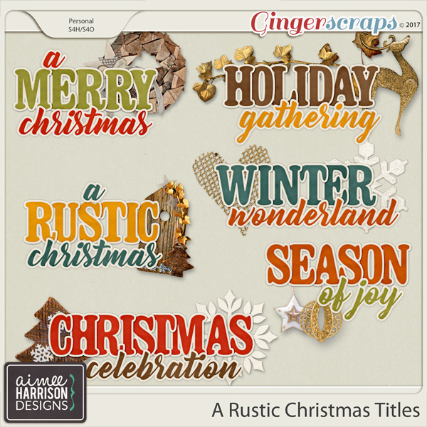 A Rustic Christmas Word Art by Aimee Harrison