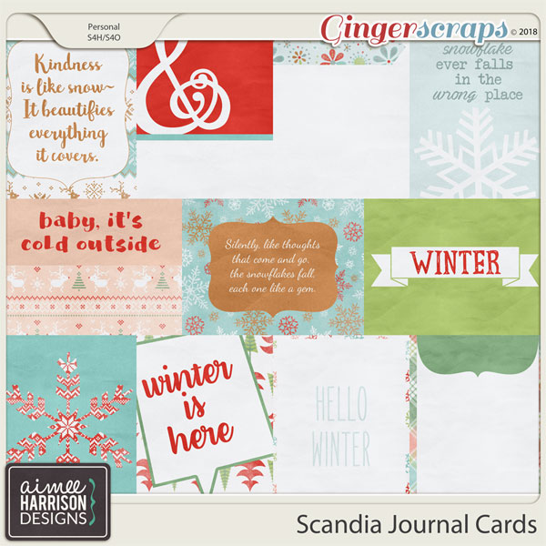 Scandia Journal Cards by Aimee Harrison