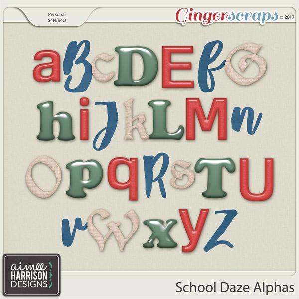 School Daze Alpha Sets by Aimee Harrison