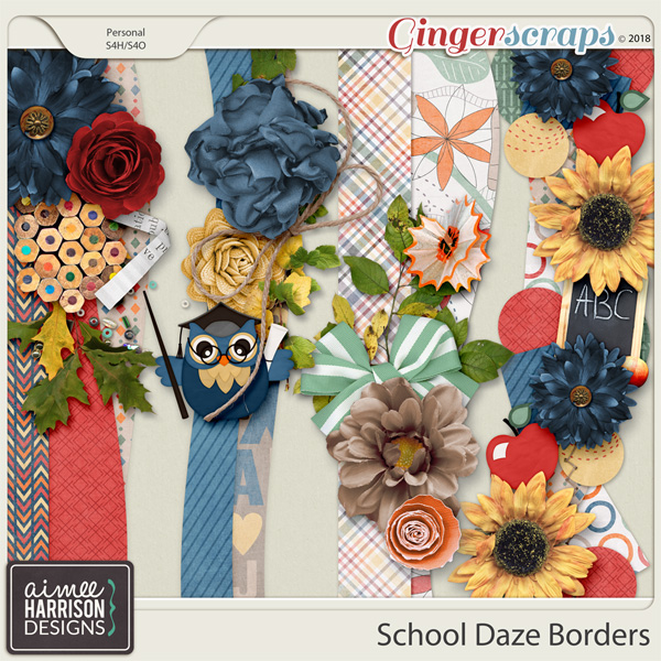 School Daze Borders by Aimee Harrison