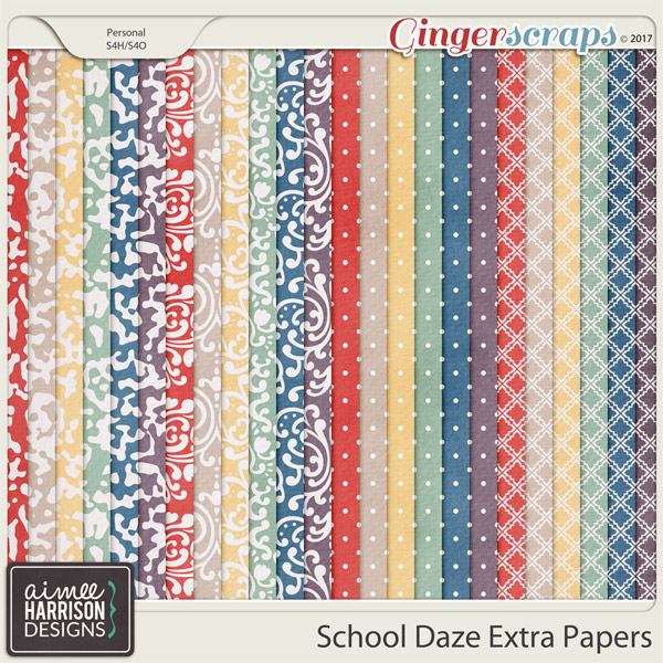 School Daze Extra Papers by Aimee Harrison