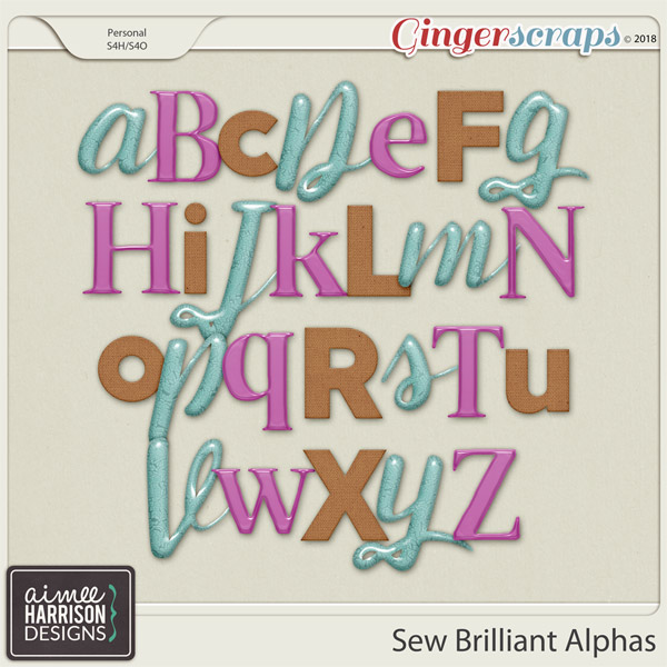 Sew Brilliant Alpha Sets by Aimee Harrison