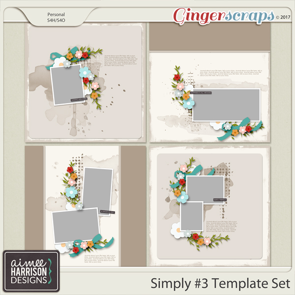 Simply #3 Templates by Aimee Harrison