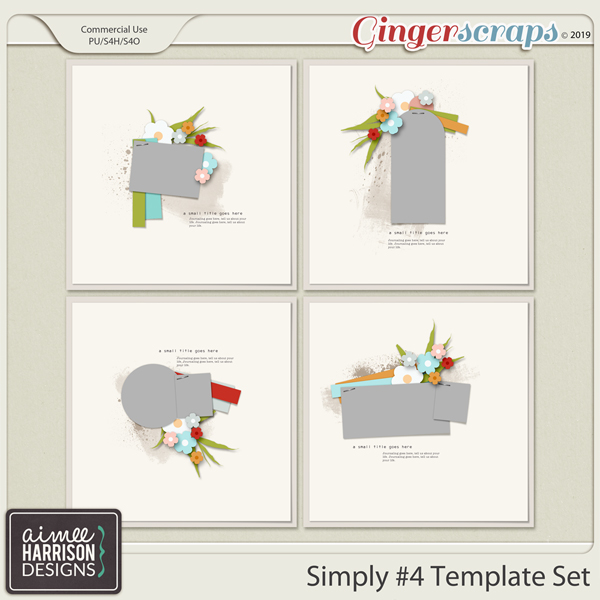 Simply #4 Templates by Aimee Harrison