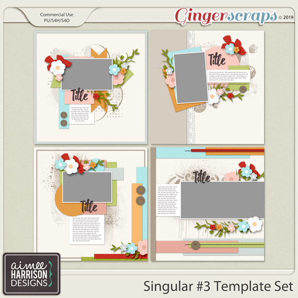 Singular #3 Templates by Aimee Harrison