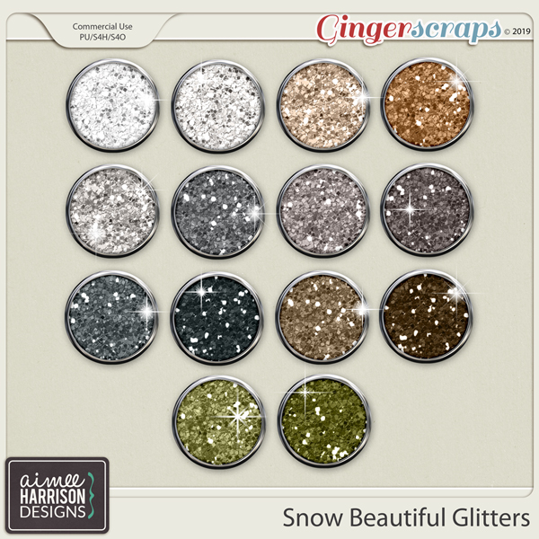 Snow Beautiful Glitters by Aimee Harrison