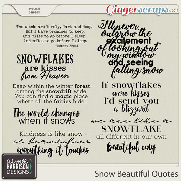 Snow Beautiful Quotes by Aimee Harrison