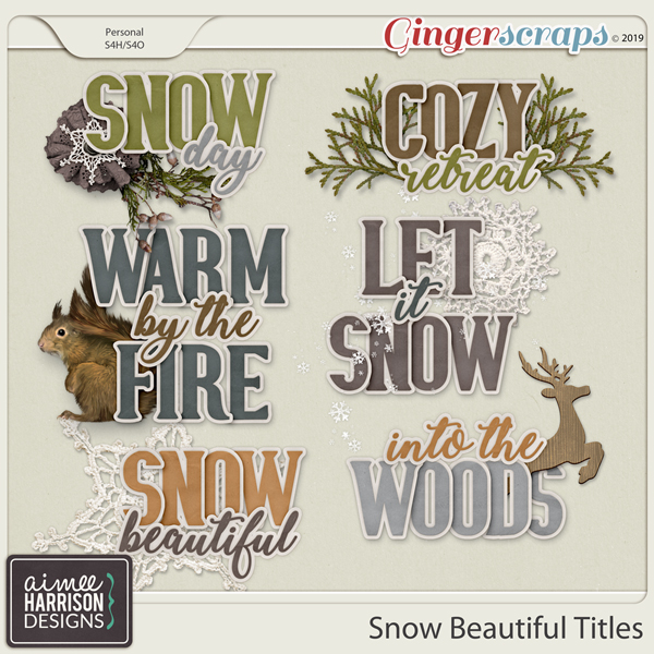 Snow Beautiful Titles by Aimee Harrison