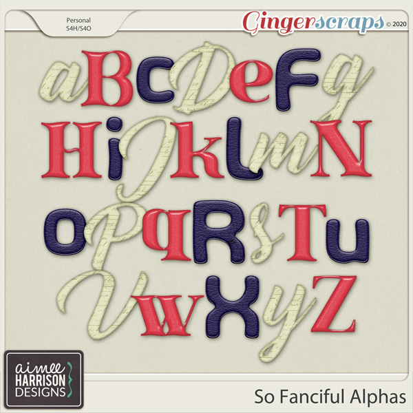So Fanciful Alpha Sets by Aimee Harrison