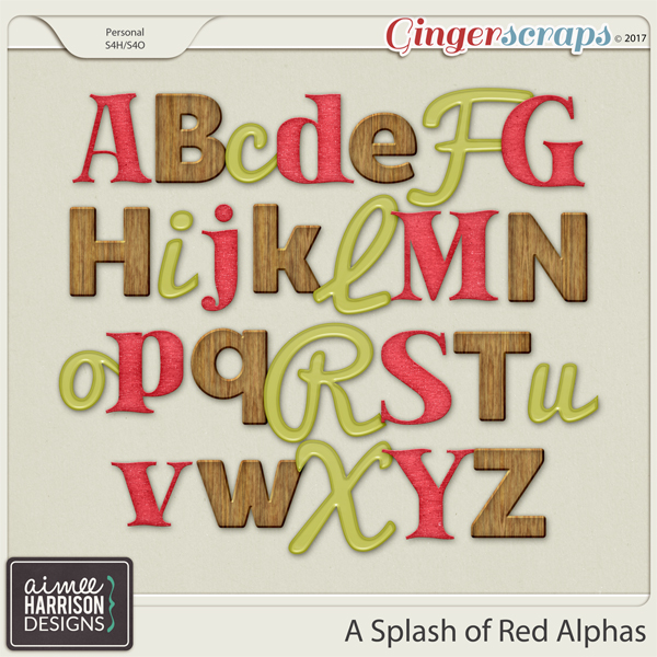 A Splash of Red Alpha Sets by Aimee Harrison